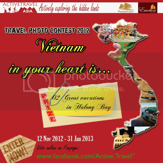 ACTIVETRAVEL ASIA announces to launch Vietnam travel photo contest 2012 for travelers from across the world.